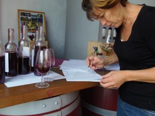 Dégustation des vins