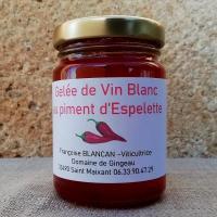 Gelée de vin Blanc au piment d'Espelette